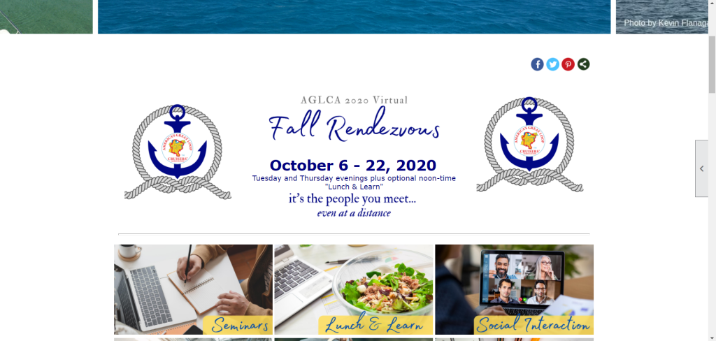 Website advertising the Fall Rendezvous